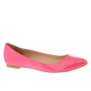 Pink, shiny patent ballet flats: ALDO Hilser - Women Flat Shoes