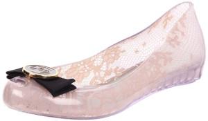 Pale Pink Shiny ballet flats - Melissa Women's Ultra Girl Jason Wu II Flat