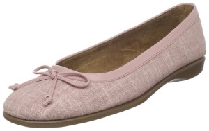 Pale pink ballet flats with bow: Aerosoles Women's Teashop Ballet Flat