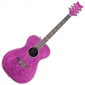 Glitter & Sparkles Pink Guitar
