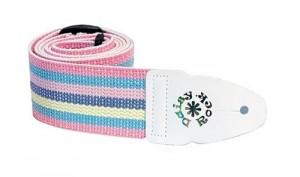 Pastel rainbow & pink guitar strap