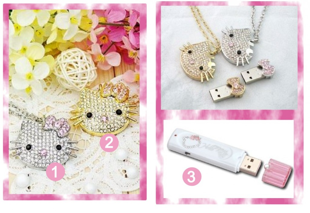 Hello Kitty Crystal & Bling USB sticks