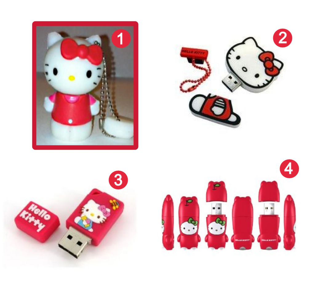 Red Hello Kitty USB flash drives