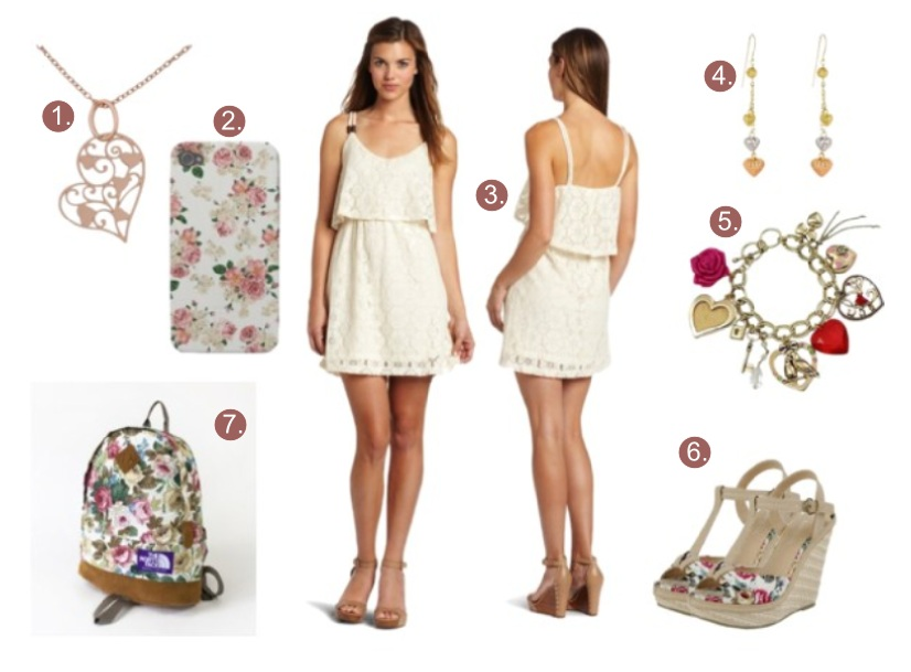 What to wear with a cream white lace dress