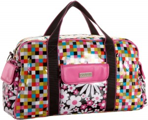 Bright & Colorful girly duffel bag by Hadaki