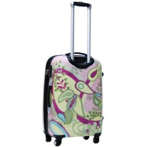 Pink and Yellow floral luggage by CalPak Woodstock