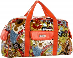 Floral print duffel bag by Hadaki