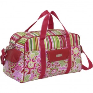 Red pink and green girly overnight bag by Hadaki