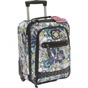 Blue & White Flowery luggage