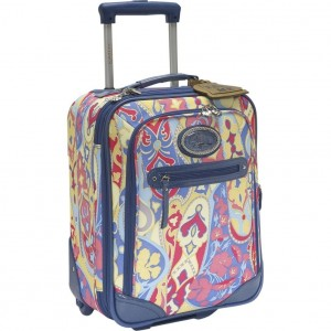 colorful floral luggage