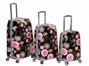 pretty floral luggage by Rockland
