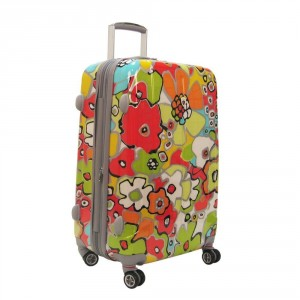 Summery flower pattern luggage by Olympia