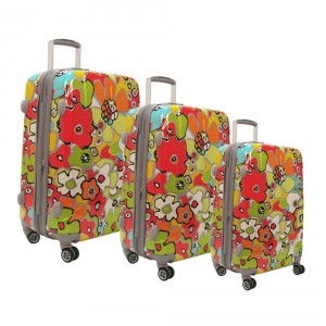 Colorful, arty & summery floral luggage by Olympia