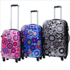 Floral luggage set