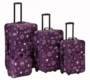 Purple Floral Luggage by Rockland