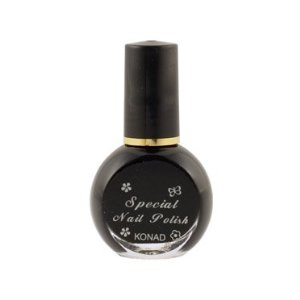 Konad special black nail polish for nail stamping - Konad Nail Art Stamping Polish - Black