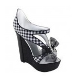 Girly Black wedge shoe phone holder