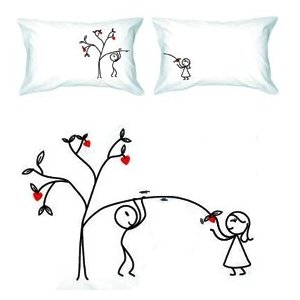 Sweet love cartoon pillowcases