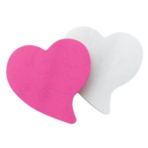 Pink &amp; White Heart post-its