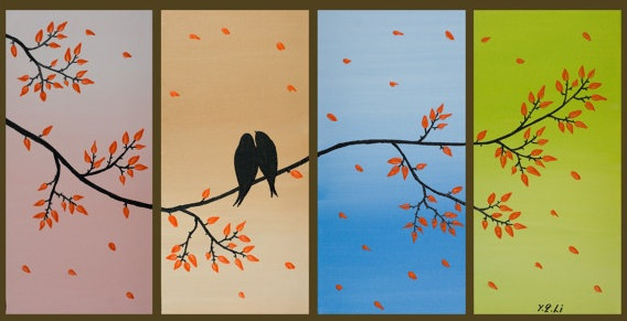 romantic art: love bird picture