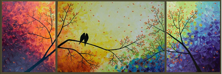 Colorful paintings: Love Bird Images
