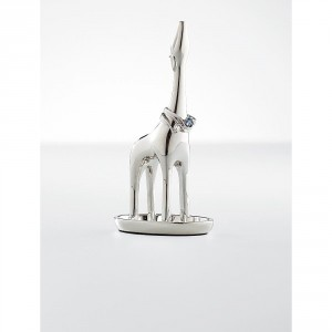 Cute Silver Giraffe Ring Holder