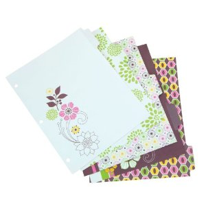 Girly office supplies: Colorful binder dividers with floral and girly patterns: Wilson Jones WorkStyle Erasable-Tab Index Dividers