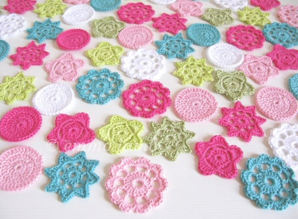 Colorful Crochet decorations