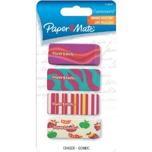 Colorful girly erasers