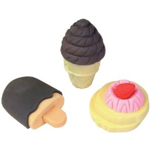 Cute kawaii Dessert scented erasers - ice cream, cookies and more!
