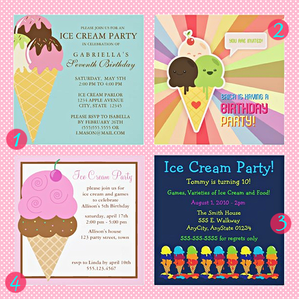 ice cream party ideas and gifts oh so girly