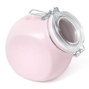 Pink canister for girly girls pink kitchen decor