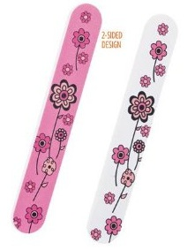 Flowery nail files - pink and white by Avon