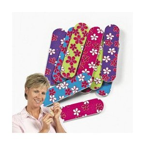 Bright and  colorful Groovy flowery nail files