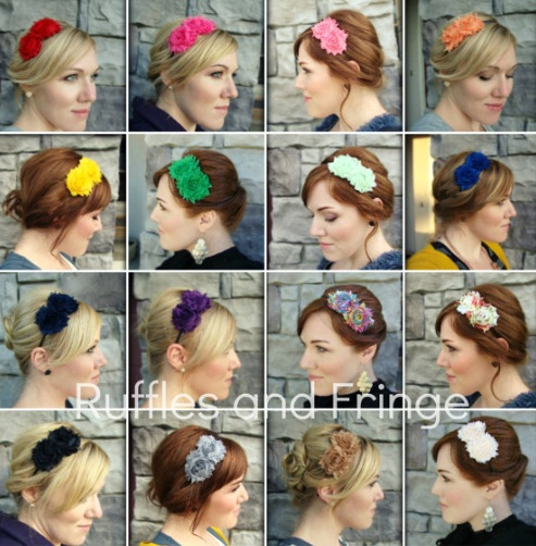 Handmade flower headbands