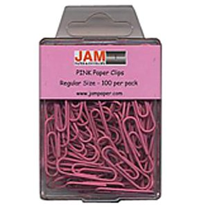 Girly office supplies: pink paper clips