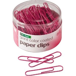 Girly Hot pink paper clips