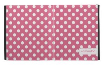 Personalized Pink Polka Dot Ipad Case