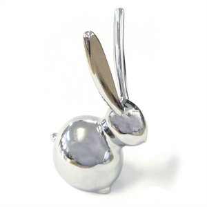 Silver bunny rabbit ring holder