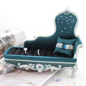 Turquoise Fancy Chaise Longes couch Ring Holder