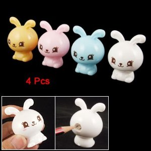 Cute kawaii bunny rabbit pencil sharpener
