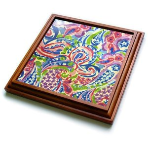 Pink kitchenware: Colorful arty trivet