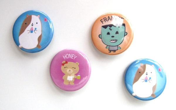 kawaii buttons / badges