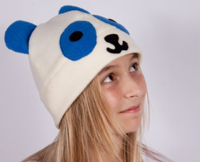 Kawaii panda bear hat