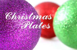 christmas plates