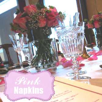 pink napkins